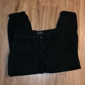 Basic Wear Black Wax Jeans
